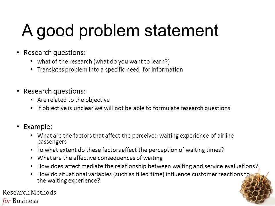 how to write a good problem statement for thesis