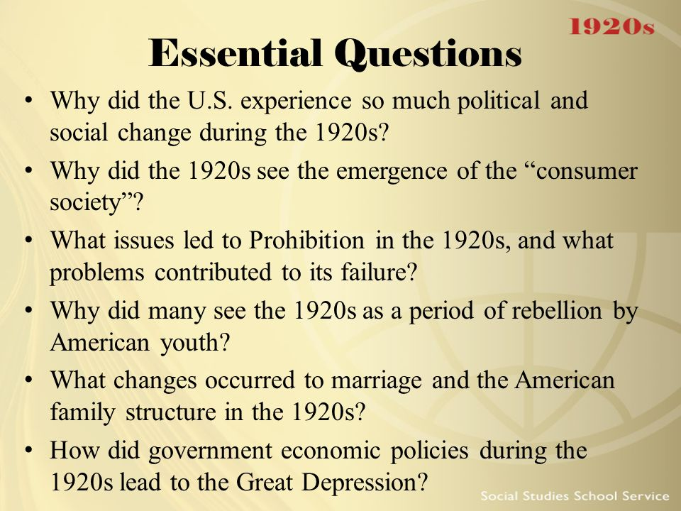 DBQ Prohibition: Why Did America Change It's Mind?