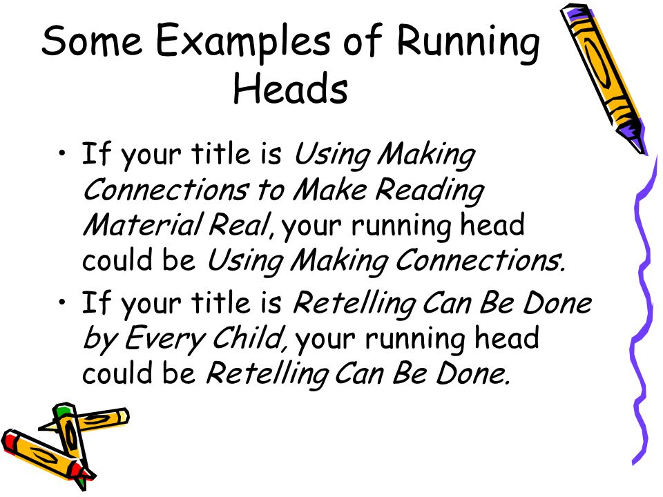 running title example