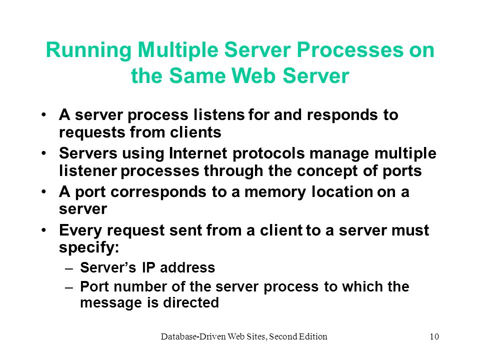 Running Multiple Server Processes on the Same Web Server