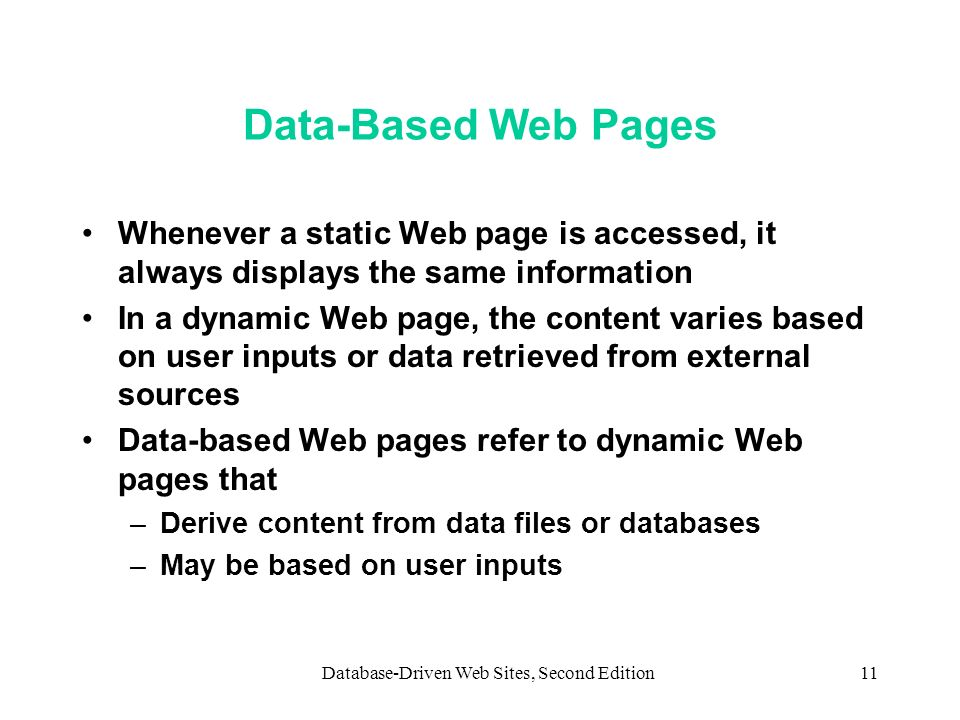 Database-Driven Web Sites, Second Edition