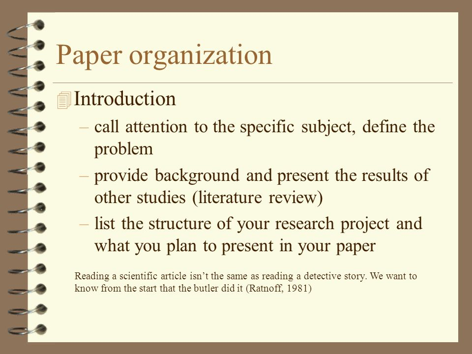 science paper introduction Writing in the social sciences most papers written in the social sciences  your introduction should state the problem you are going to address.