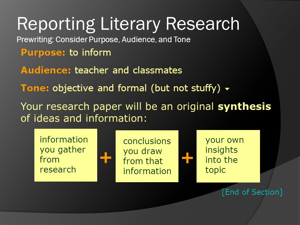 research papers in literature If a research problem requires a substantial exploration of the historical context, do this in the literature review section in your introduction, make note of this as part of the roadmap [see below] that you use to describe the organization of your paper.