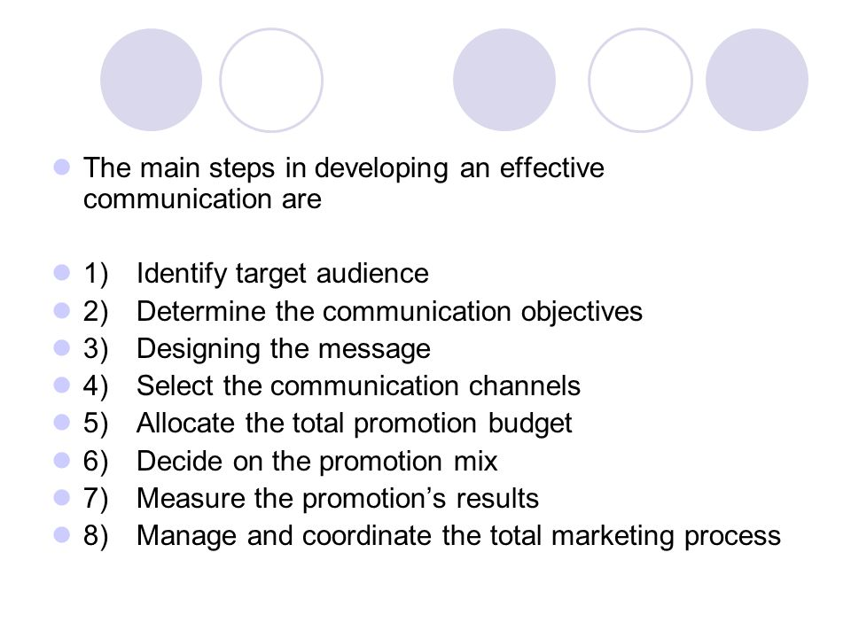 the steps in an effective communication Seven crucial steps to effective project risk management but what are the steps to building an effective risk management program 1 assigning ownership is also important in establishing an effective and clear communication channel.