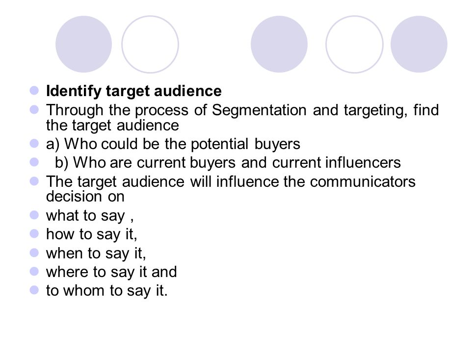 how to find the target audience of an article