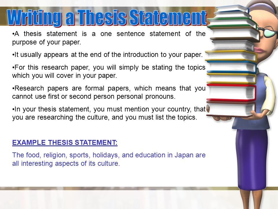 thesis statement for a research paper on a person Home tips and prompts how to write a thesis statement for a research paper when writing a research paper, thesis statement is the first thing the readers will see.