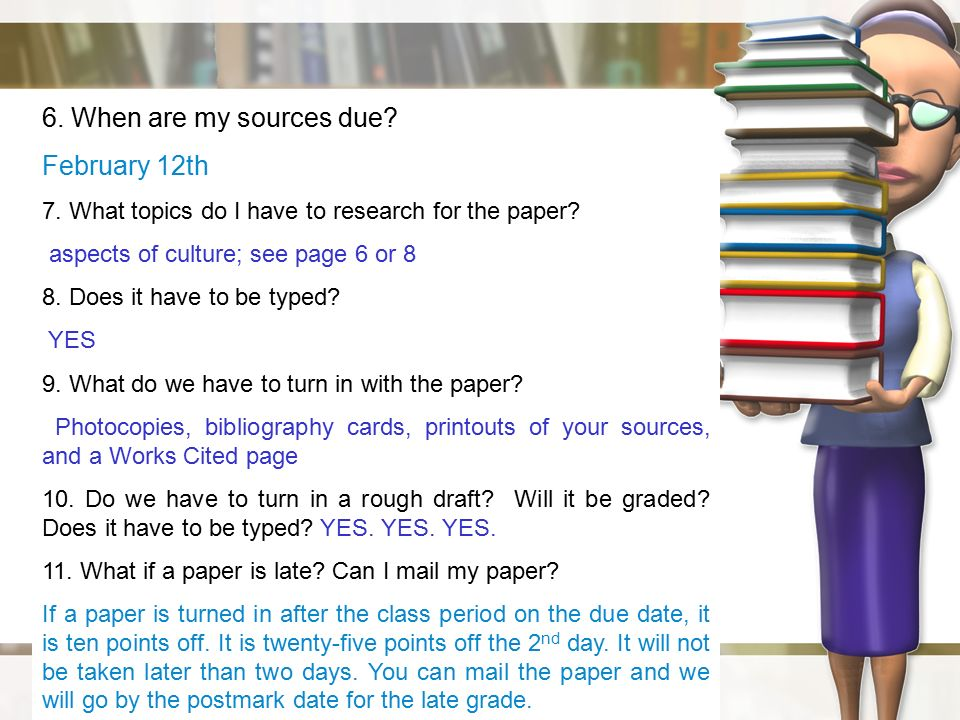 20 page research paper due in 2 days How to format the works cited page of an mla style paper  ms-word settings  in windows or mac or, skip ahead to 2) page header)  if the quotation runs  across more than one page: (wordsworth-fuller 20-21) or (wordsworth-fuller  420-21)  let me start your three-day weekend by wrapping my chain around  your.