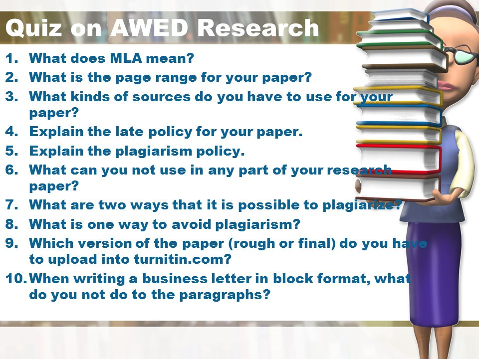 quiz on the research paper Go through the quiz and worksheet, seeing how much you know about research paper format you can study at your own pace if you decide to use these.