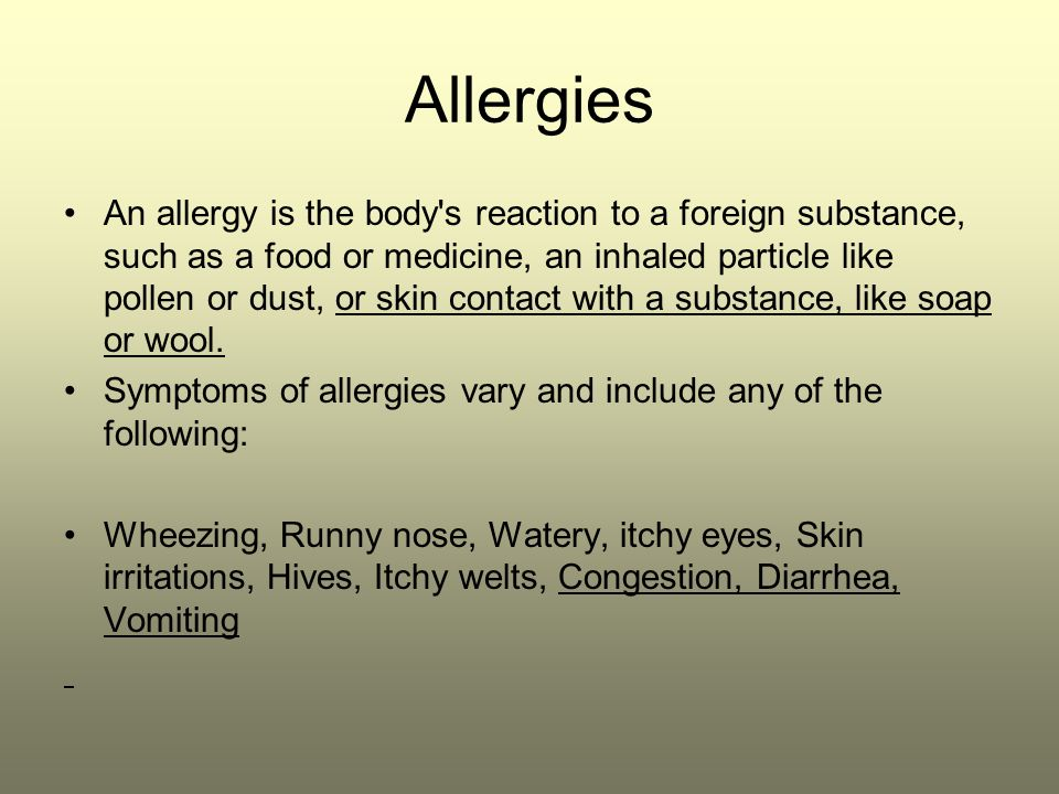 describe the signs and symptoms of common childhood illnesses and allergies Asthma is a common allergic disorder of children that affects the bronchi and   clinical manifestations include anemia, thrombocytopenia (deficit of blood.