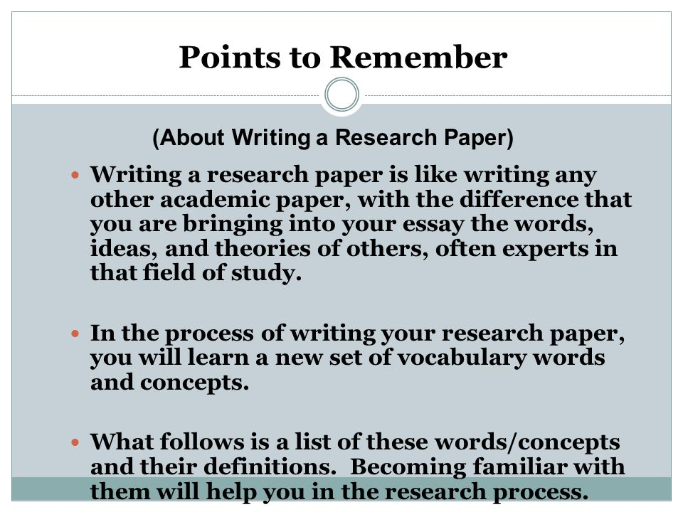 writing a research paper with observational data