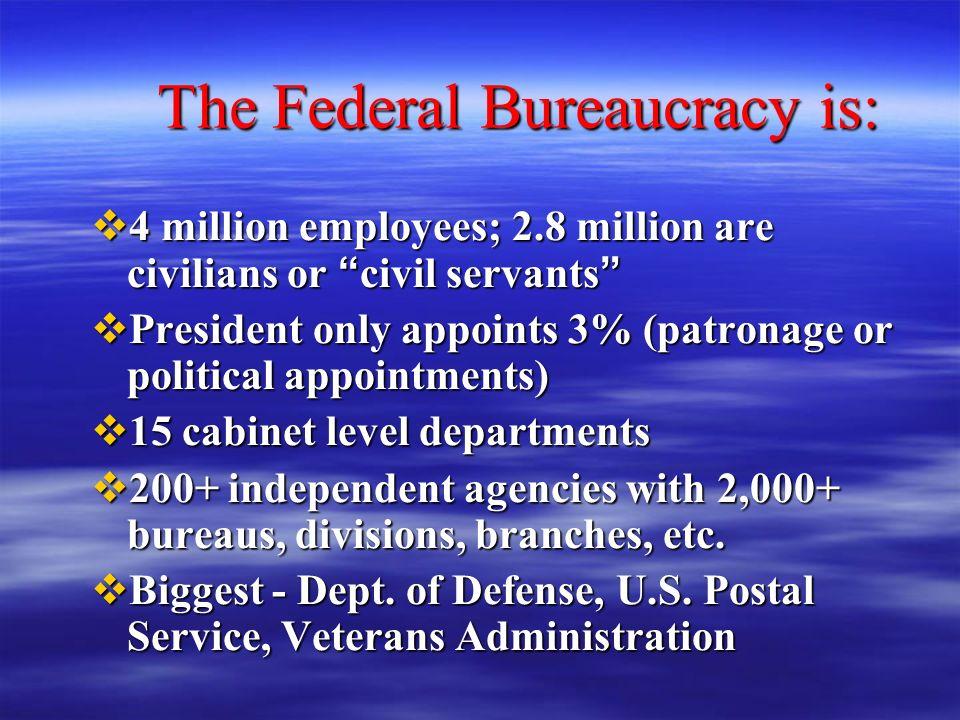 Unit 7 Chapter 10: Federal Bureaucracy - ppt video online download