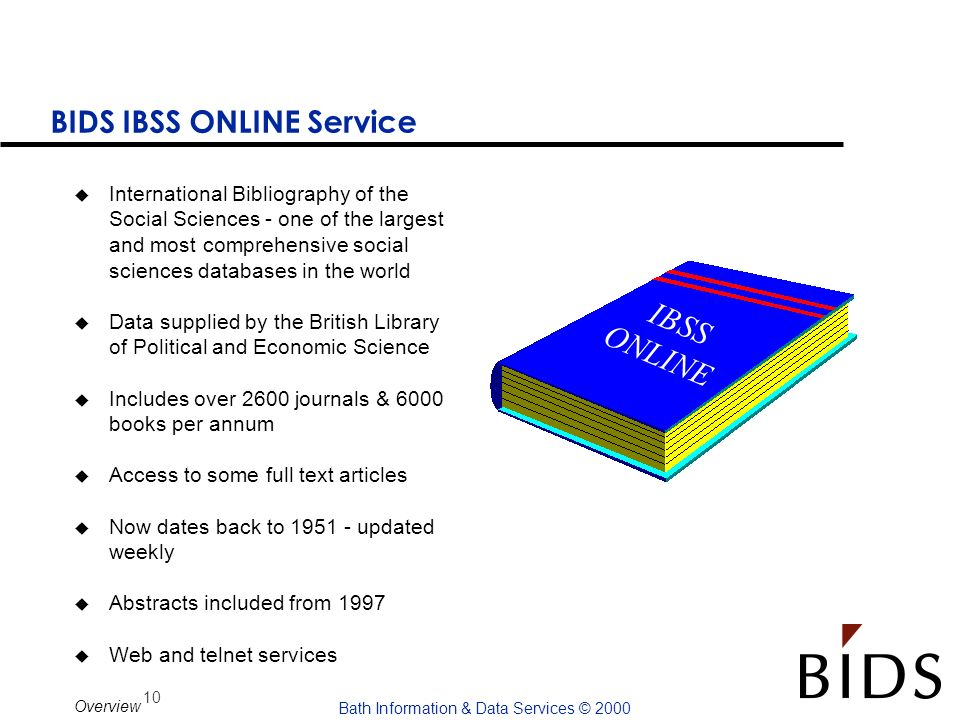 BIDS IBSS ONLINE Service