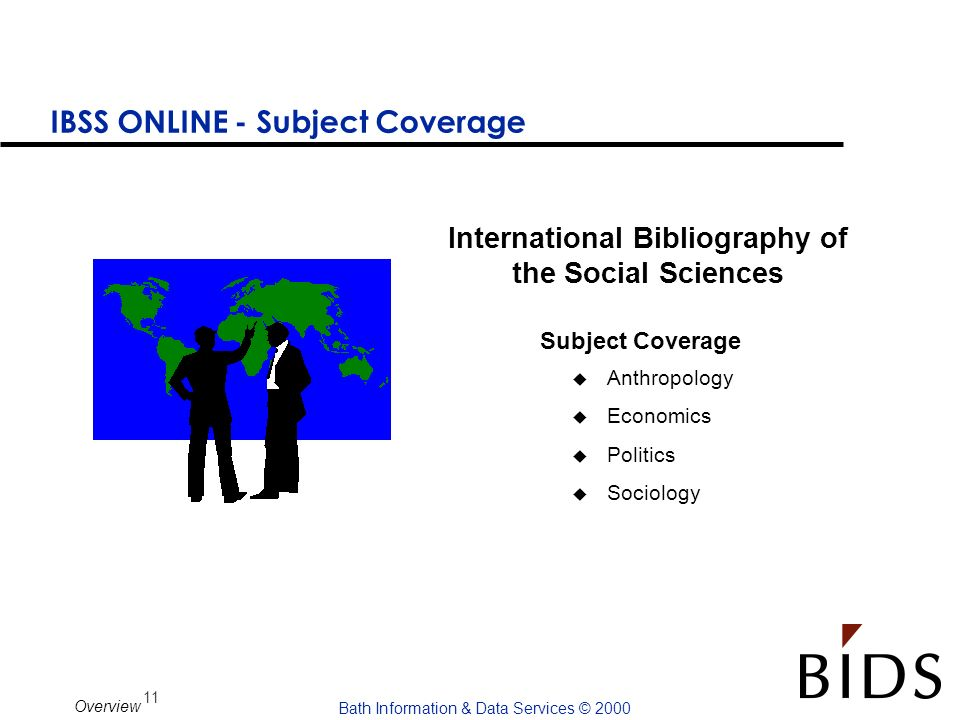 IBSS ONLINE - Subject Coverage