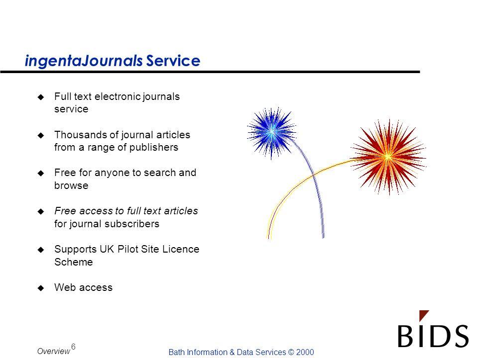 ingentaJournals Service