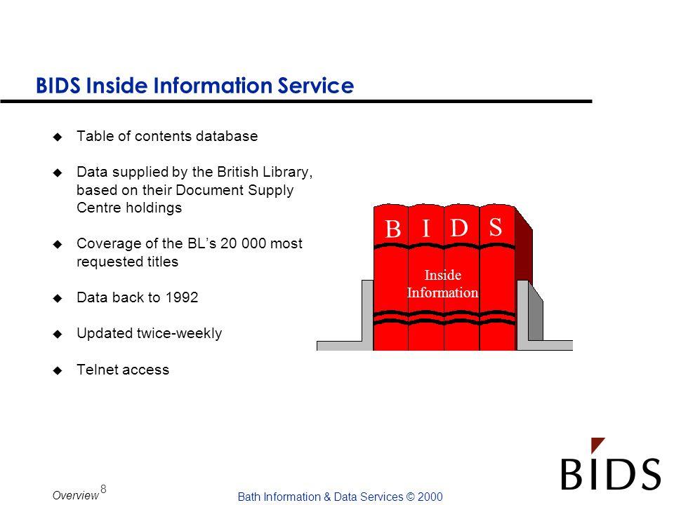 BIDS Inside Information Service