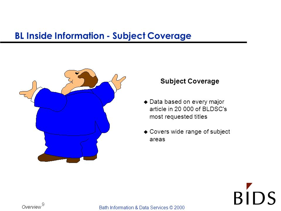 BL Inside Information - Subject Coverage