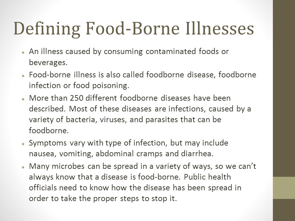 Defining Food Borne Illnesses  Food Poisoning Duration