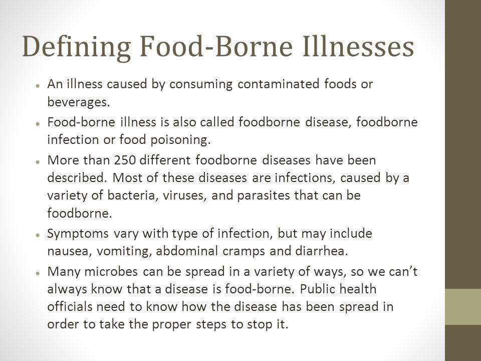 Defining Food Borne Illnesses  Food Poisoning Duration