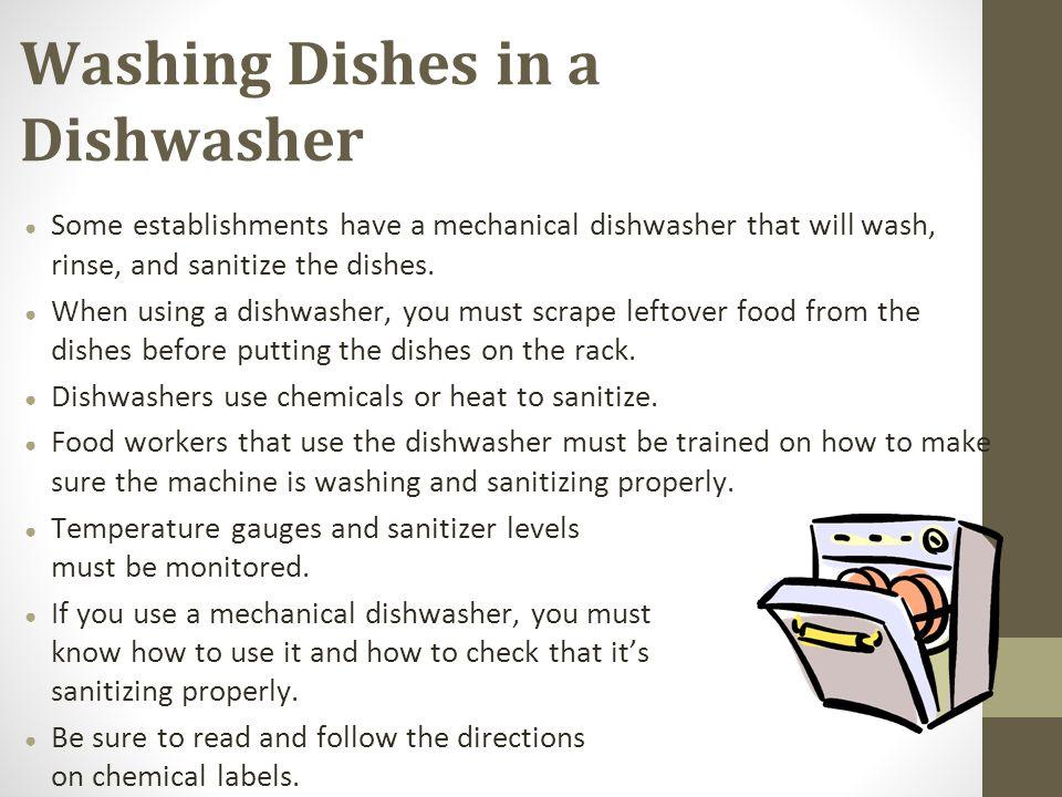 washing dishes machine