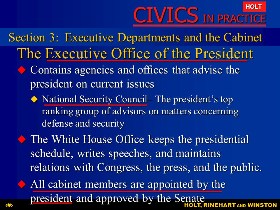 Chapter 6 The Executive Branch - ppt download