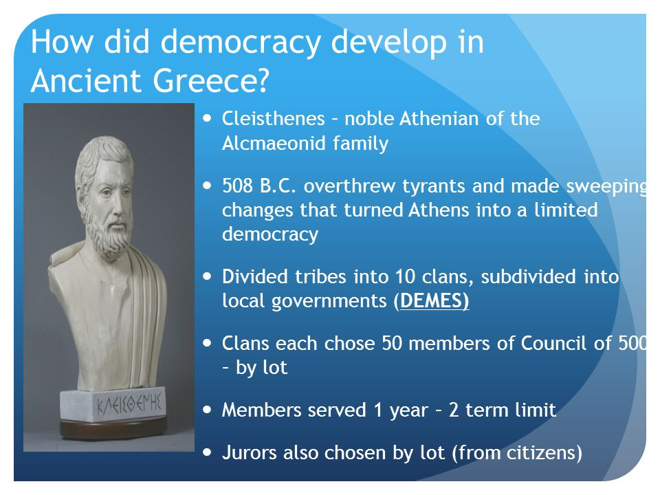 changes in democracy from early athenian Not unlike some sections of the modern united states, athens might deny an overtly imperialist agenda but it pursued regime change and the imposition of democracy wherever it suited athenian interests.