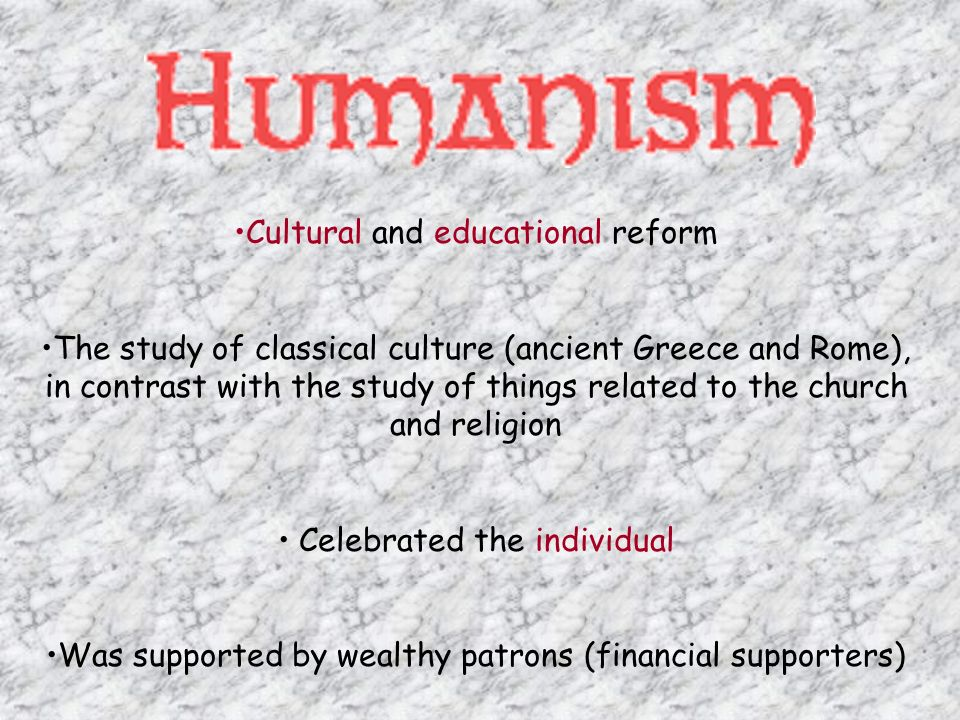 Cultural and educational reform