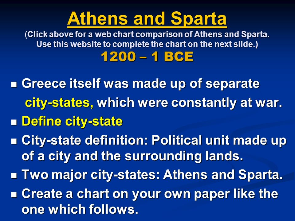 a comparison of athens and sparta the two major city states in ancient greece There wasn't much love lost between athens and sparta, the two most important  city-states of ancient greece at the height of its influence,.