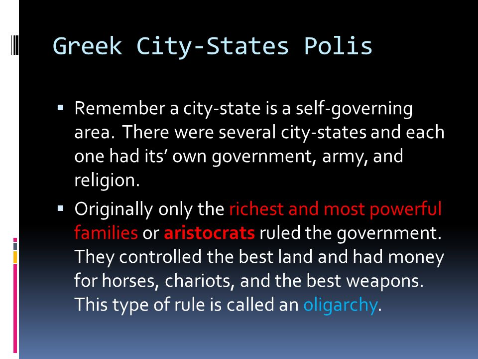 Greek City-States Polis