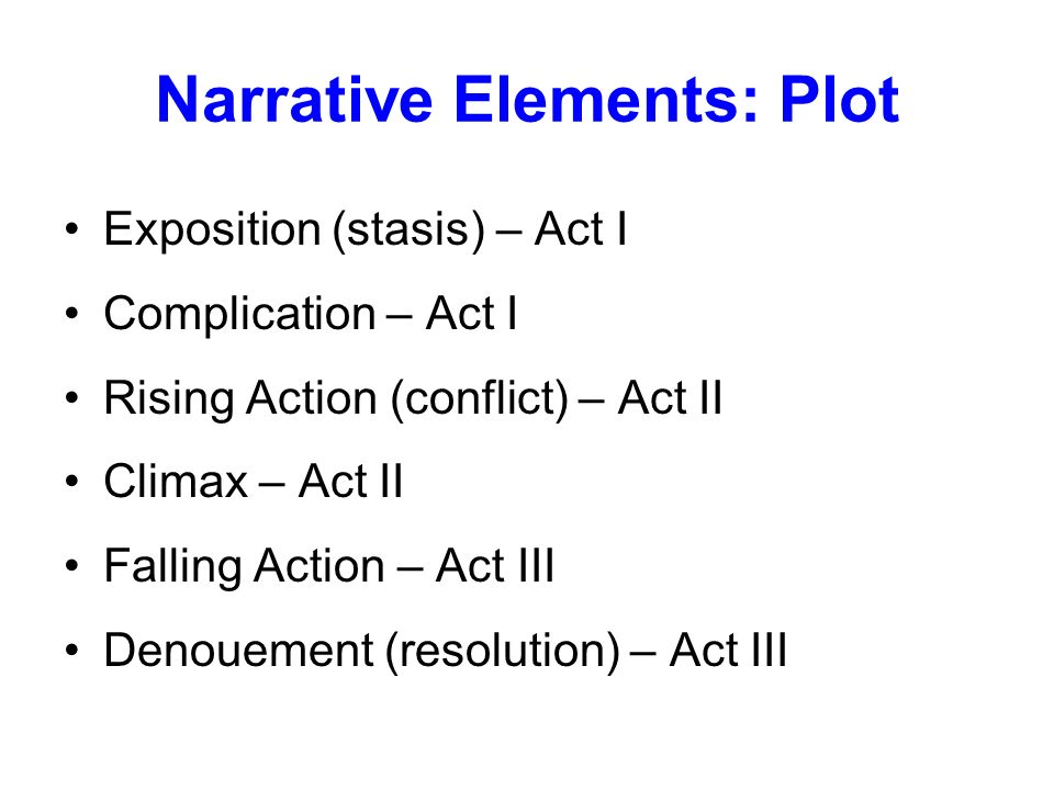 Narrative Elements: Plot
