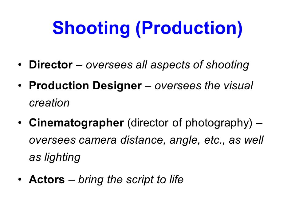 Shooting (Production)