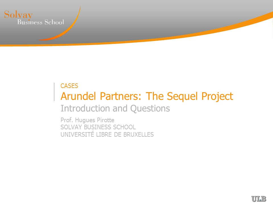 arundel partners case npv John doe arundel partners the sequel project 1 arundel partners believe that buying movie sequel rights will have a positive npv because they will make.