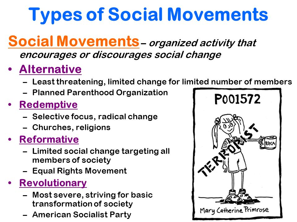 social movement and social change Social movements and social change search for: social movements learning objectives by the end of this section, you will be able to:  new social movement.
