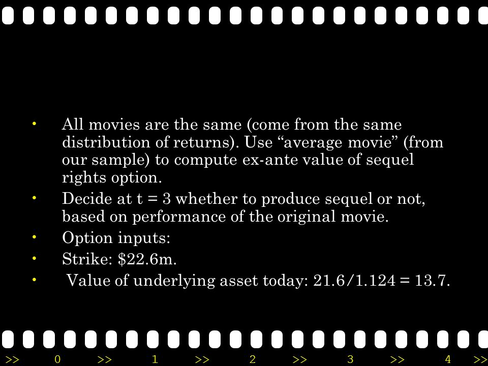 All movies are the same (come from the same distribution of returns)