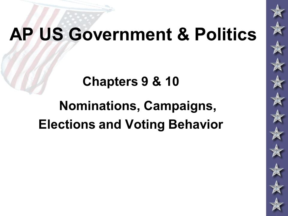 campaigns and voting behavior Vocabulary for government in america: chapter 10 (elections and voting behavior) key terms find, create, and access not set, flashcards with course hero.