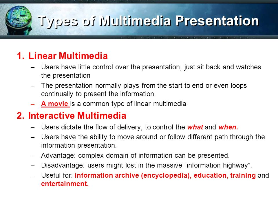 advantages of multimedia in entertainment How to use multimedia for business marketing your guide to using photo sharing, video, podcasts, mobile marketing, and other types of multimedia to broaden your company's reach and introduce new .
