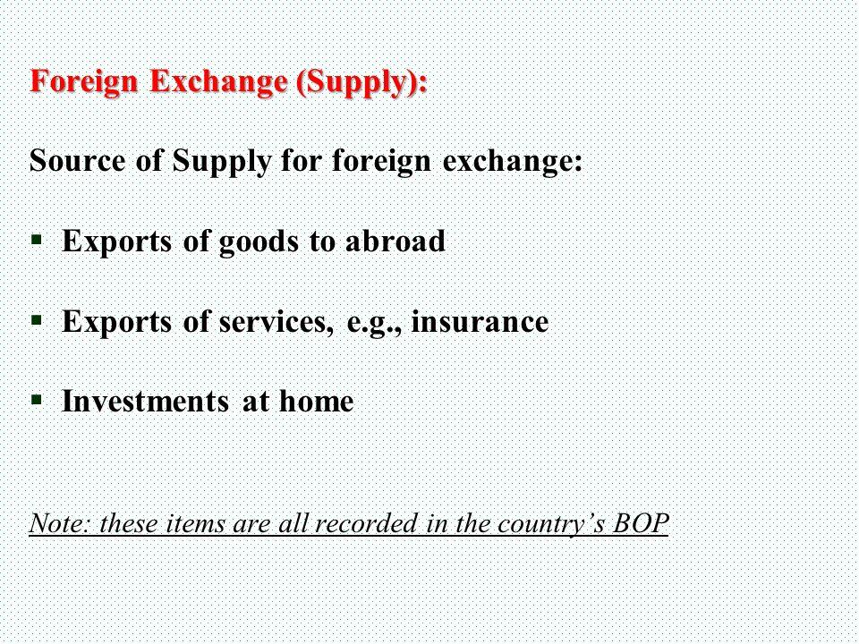 Foreign exchange agencies