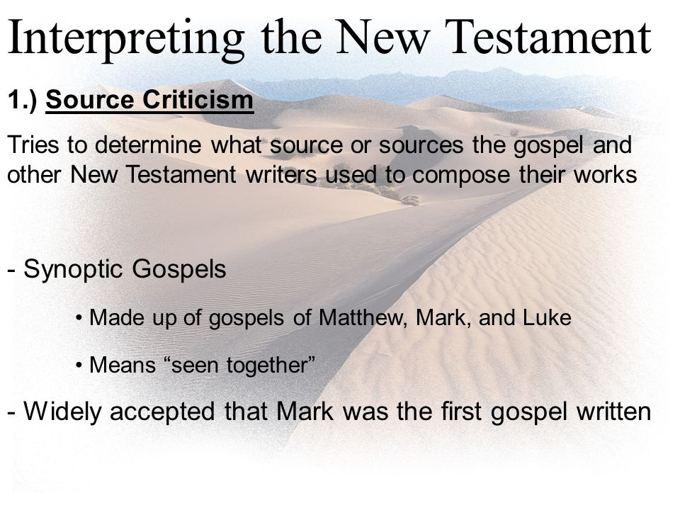 synoptic gospel writers Take the quiz: four gospels questions about the unique features of the gospels of matthew, mark, luke and john.