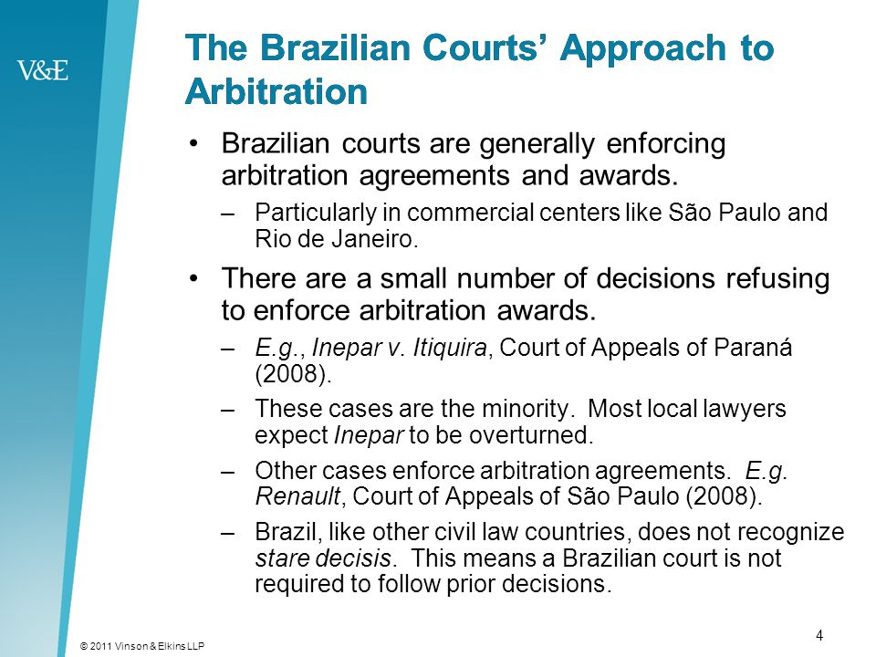 Arbitration For Projects In Brazil From The Perspective Of A U S