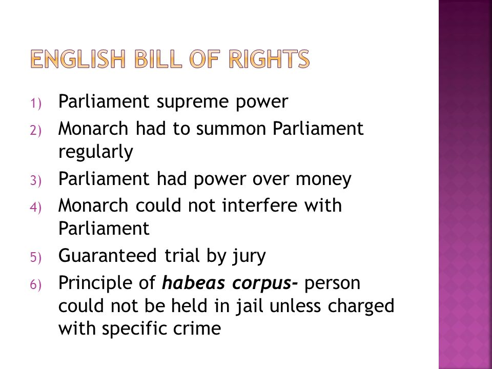 Triumph of Parliament over the Absolute Monarchy