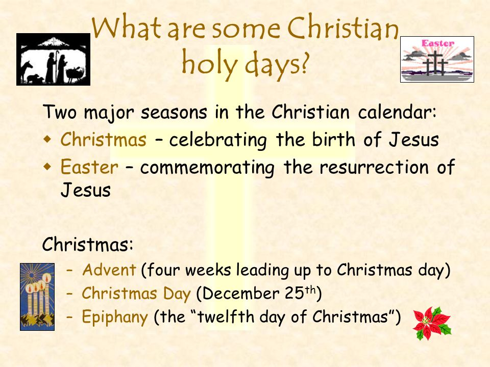 What are some Christian holy days
