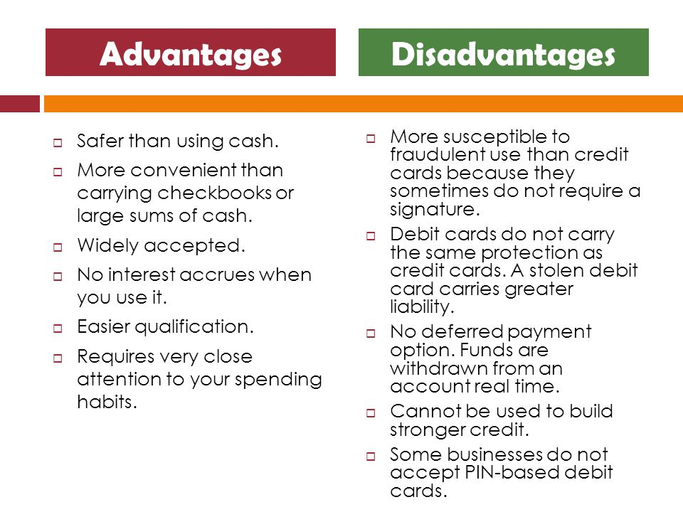 Credit Cards: Advantages and Disadvantages for the Consumer