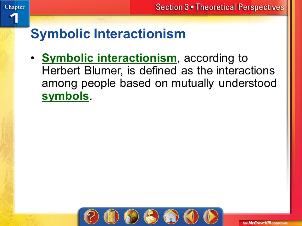 symbolic interactionism blumer Blumer's book, symbolic interactionism (see classic works and original statements) serves as another foundational work for the perspective symbolic interactionism had its most significant impact on sociology between 1950 and 1985.