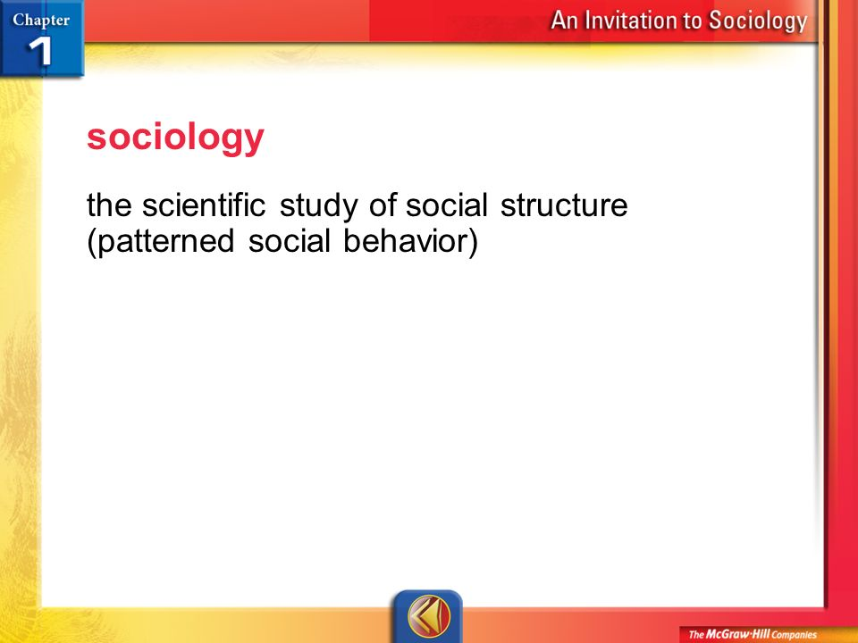 sociology the science of social behavior