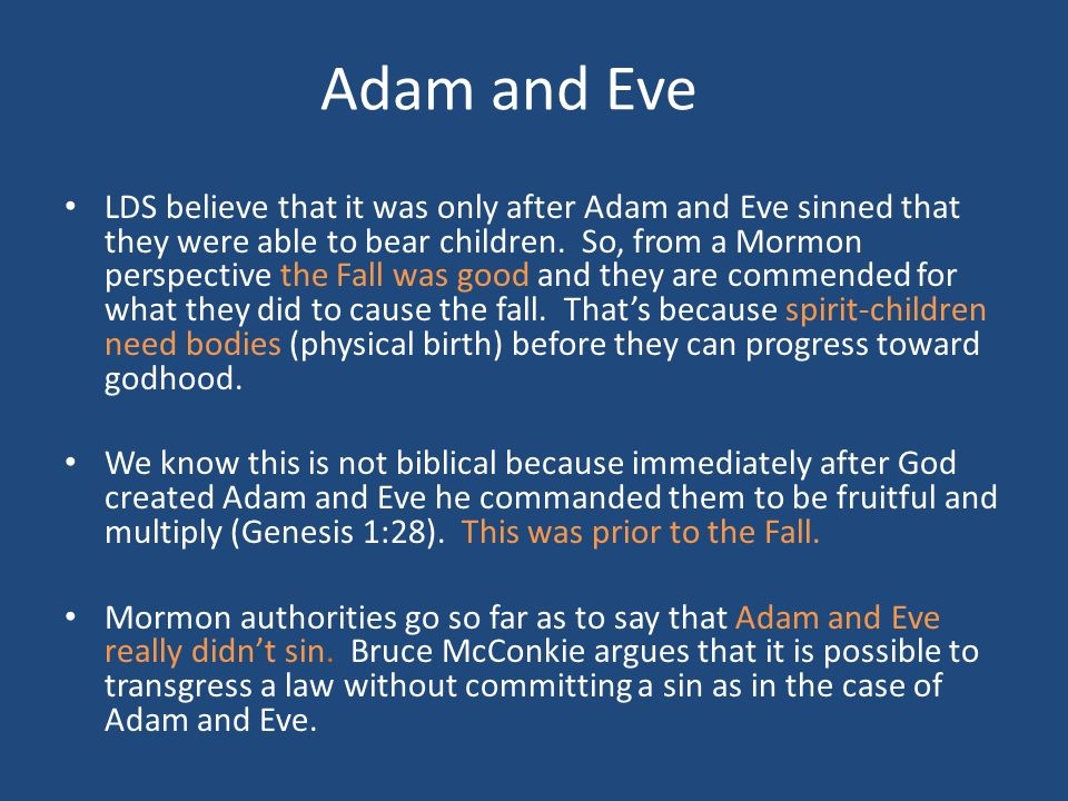 60 Adam and Eve LDS ...