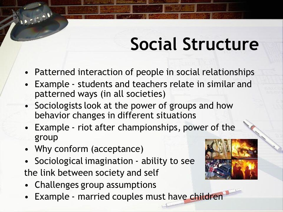reciprocal relationship between social structure and interaction