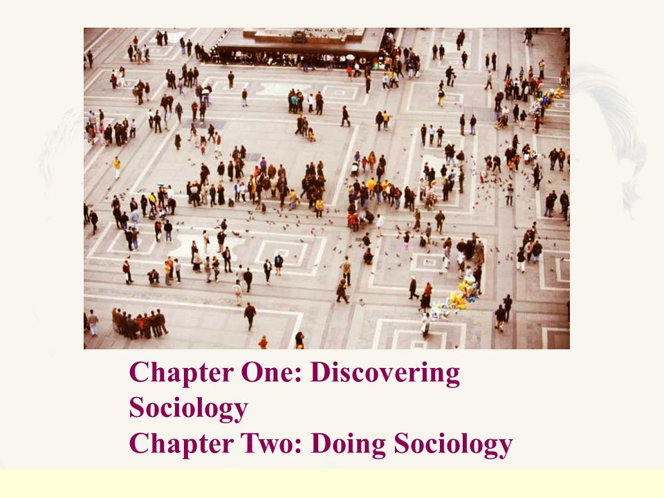 sociology chapter one End-of-chapter review questions, with answers, for chapter 1: the sociological   some people accuse sociologists of observing conditions that are obvious.
