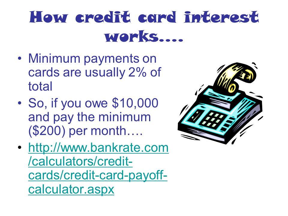 credit card interest formula