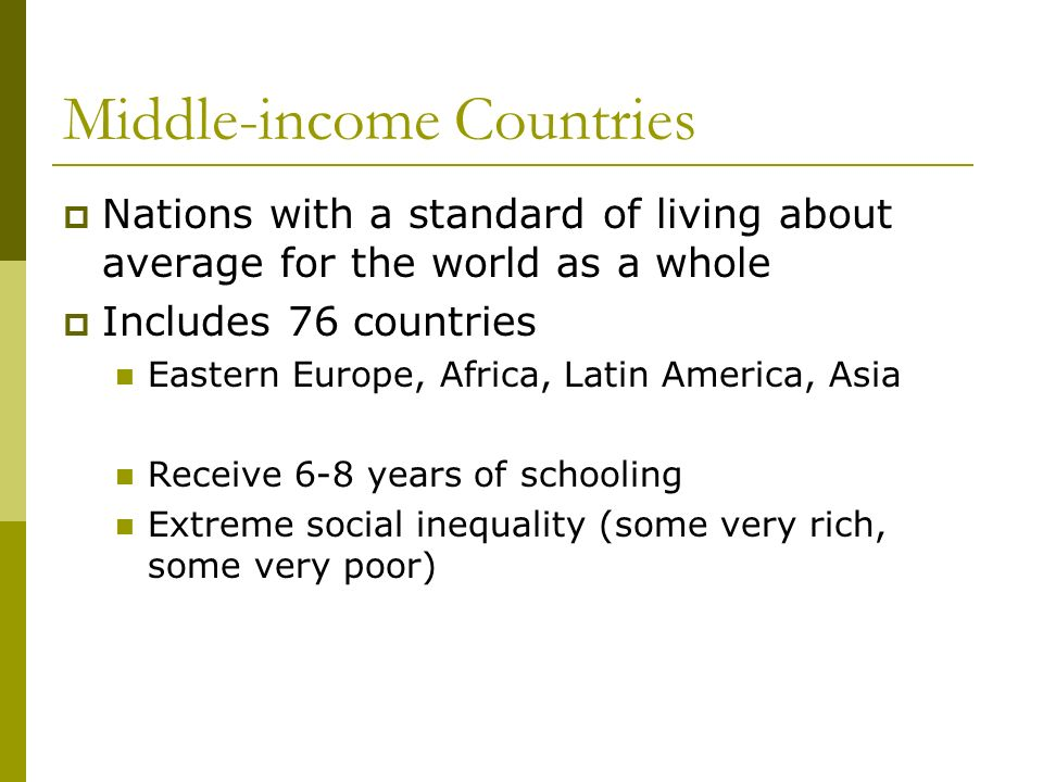 Middle-income Countries