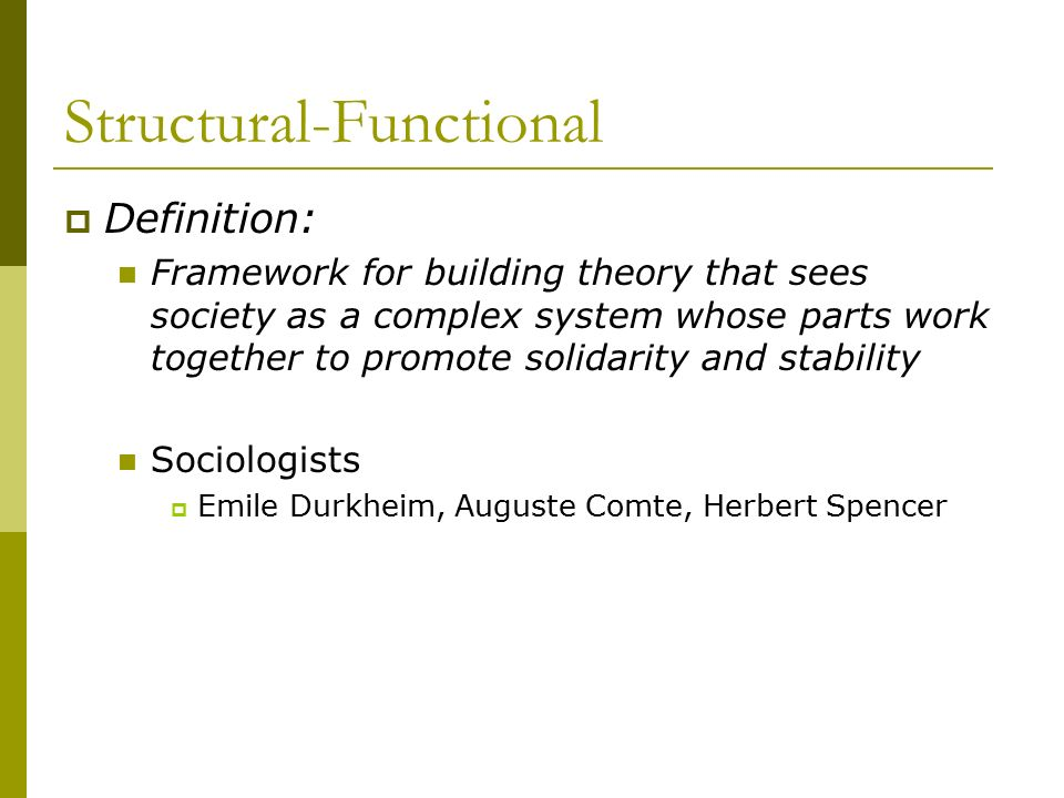 Structural-Functional