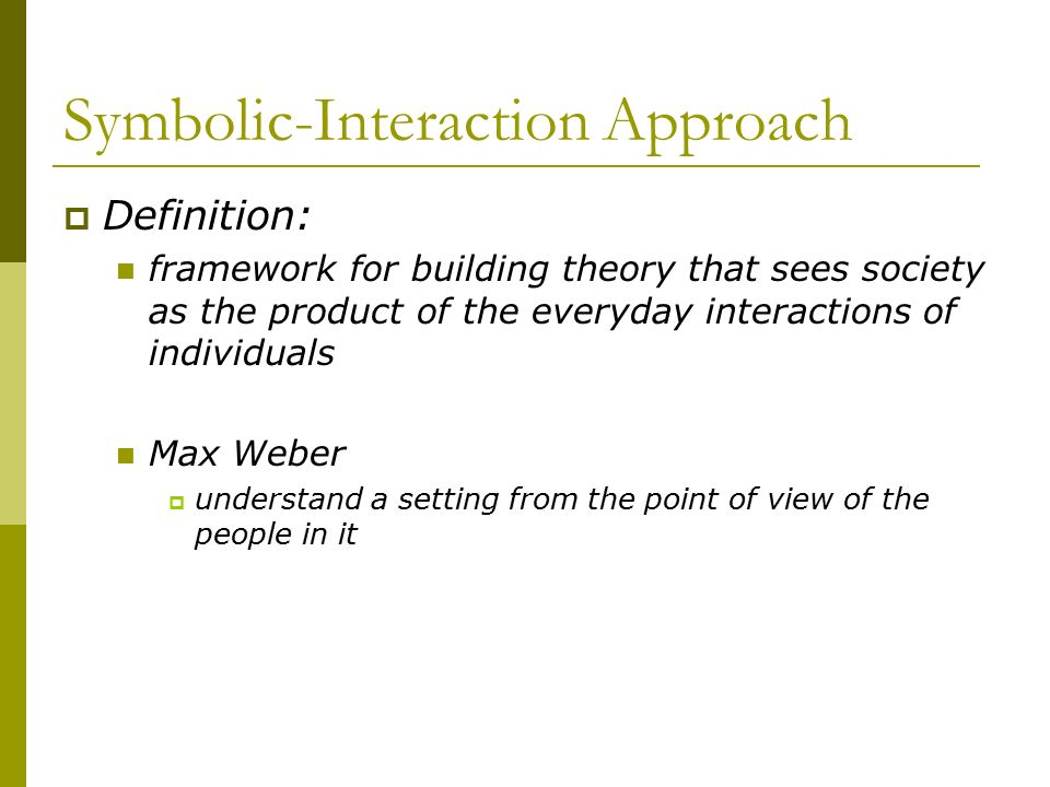 Symbolic Interaction Approach Definition Images Meaning Of This Symbol